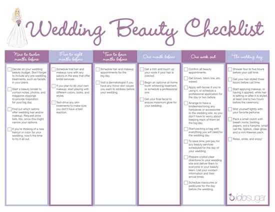 Download Your Wedding Beauty Checklist!